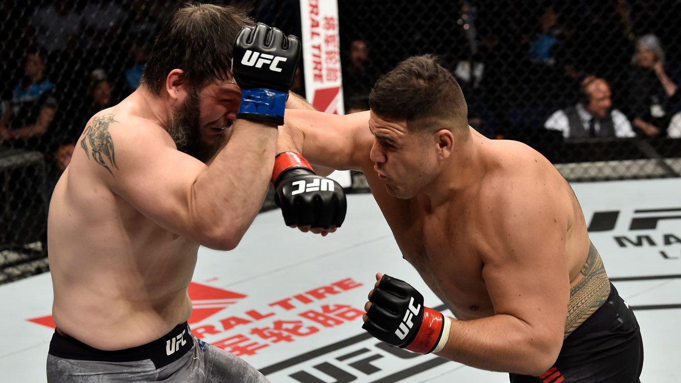 Australian heavyweight and former NRL hardman Tai Tuivasa has TKO win at UFC Perth