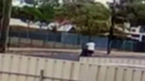Authorities hope someone might recognise the distinctive twin stroller the man was filmed pushing on the day.