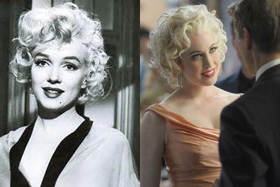 Left: Marilyn Monroe / Right: Charlotte Sullivan