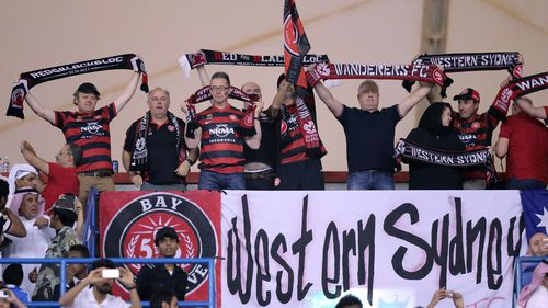 The Western Sydney Wanderers played in front of a capacity, boisterous crowd at King Fahd Stadium. (AAP)