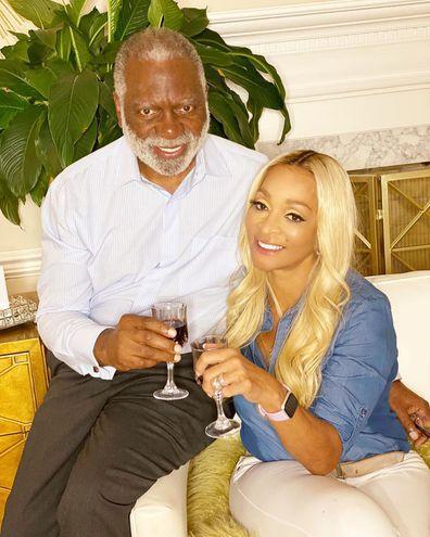Real Housewives of Potomac stars Karen Huger and husband Ray.