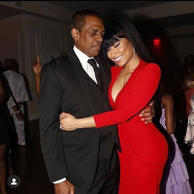Nicki Minaj and her father Robert Maraj