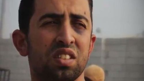 Muath al-Kaseasbeh in a still from the video released by ISIS. (Supplied)