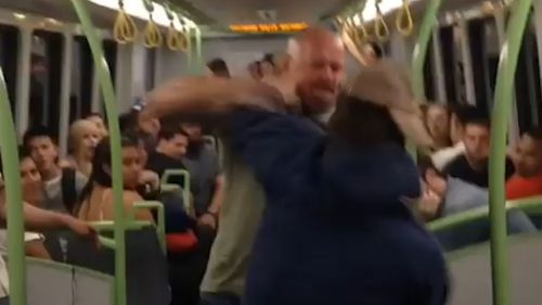 The brawl erupted about 6pm yesterday. (9NEWS)
