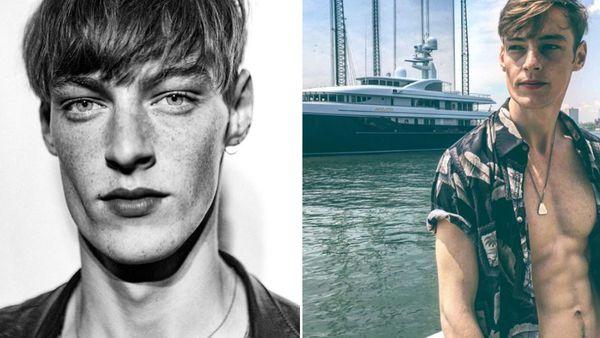 Twenty -year-old Romanian model Robert Sipos.