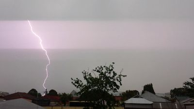 Lightning in Chester Hill. (Robbie Iskandar)