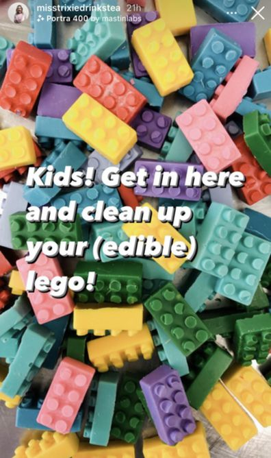 Edible LEGO blocks