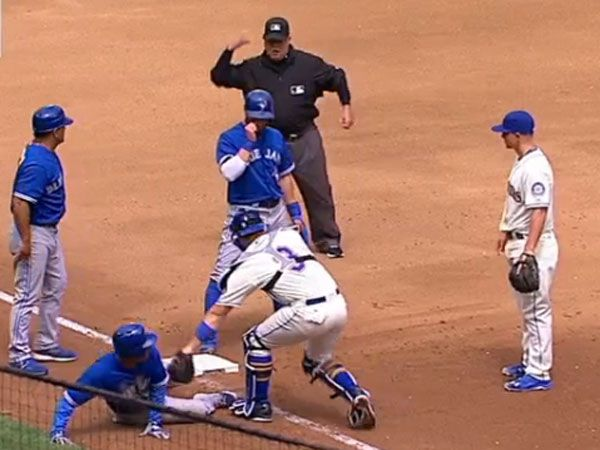 Run blunder leads to rare baseball triple play