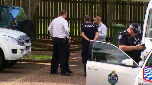 Police at the scene in Petrie.