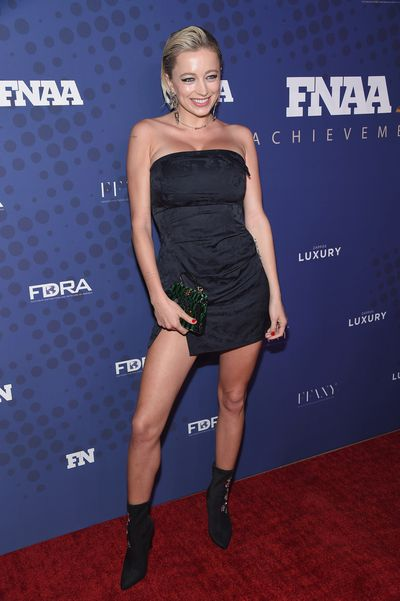 Caroline Vreeland (trialing natural deodorant) at the FN Achievement Awards in New York.