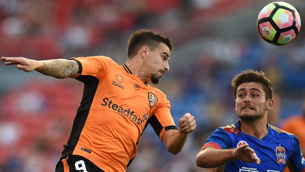 Brisbane striker Jamie Maclaren. (AAP)