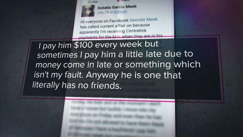 Natalia Meek took to Facebook.