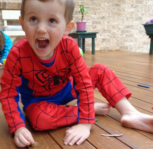 William in his Spiderman costume, which he was wearing the day he vanished. (AAP)
