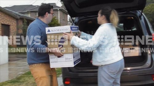 A range of documents and property were seized. Picture: 9NEWS