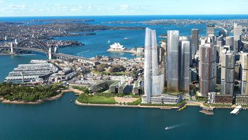 The towering apartment block is Designed by Pritzker Prize winning architect Renzo Piano.