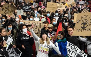 George Floyd: Thousands of protesters join Sydney Black Lives Matter march