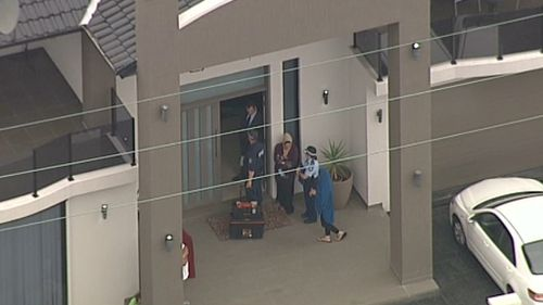 The Lockwood St home was one of at least two targeted by police. (9NEWS)