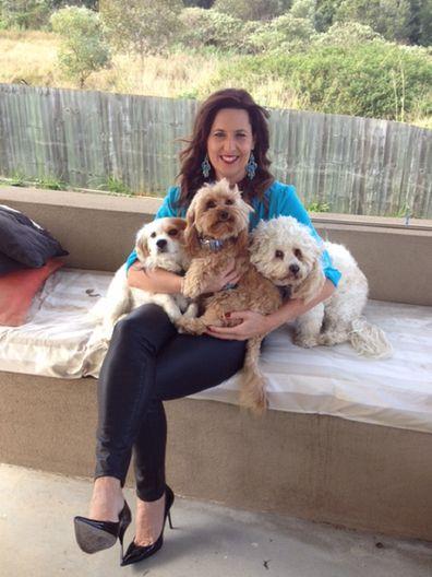 Tanya with fur babies