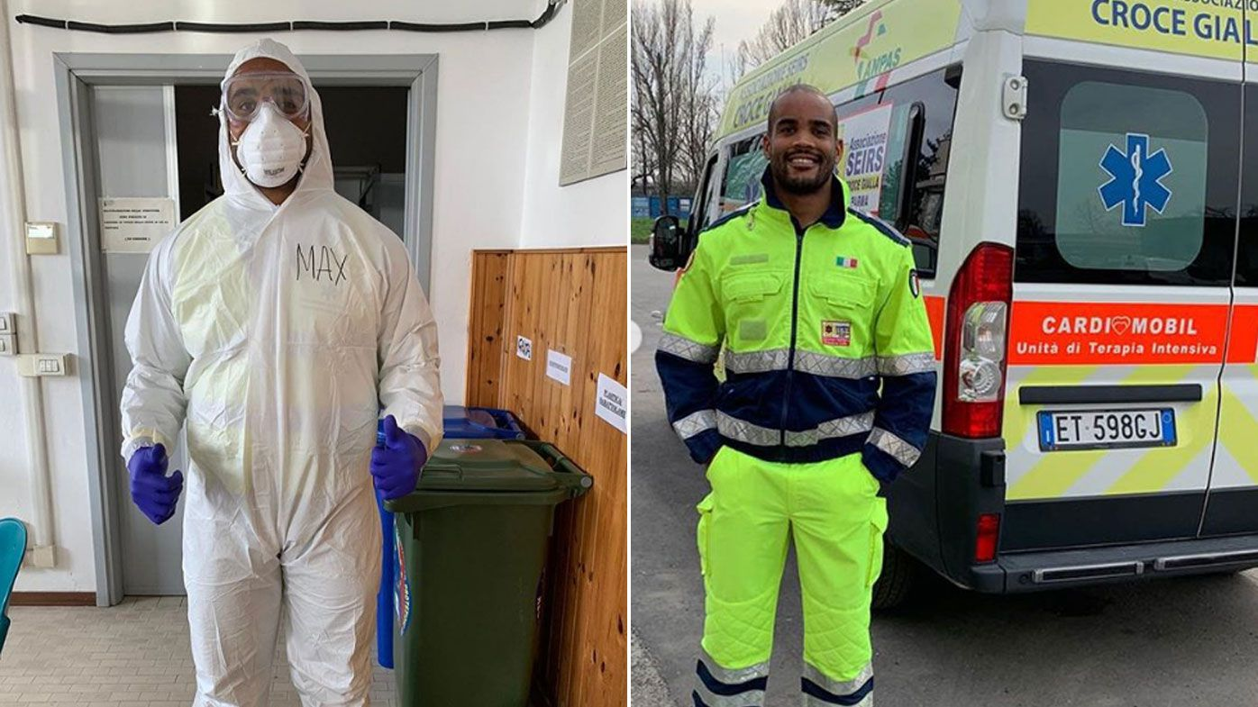 Maxime Mbanda, Italy international, has been volunteering as an ambulance driver during the COVID-19 pandemic