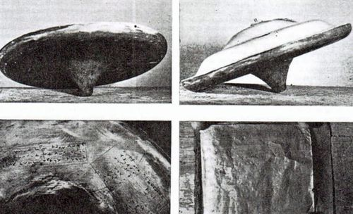 The 'flying saucer' as pictured in 1957. (Image: Dr David Clarke, Sheffield-Hallam University.)