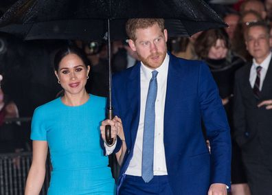 Harry and Meghan in 2020