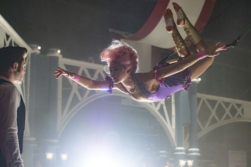 Zac Efron, left, and Zendaya in a scene from the new film. (AAP)