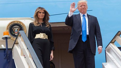 Melania Trump arrived in Saudi Arabia wearing no headscarf. (AAP)