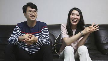 North Korean refugee Kim Seo-yun and her South Korean husband Lee Jeong-sup.