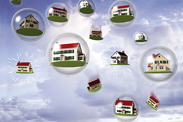 Houses in snowglobes