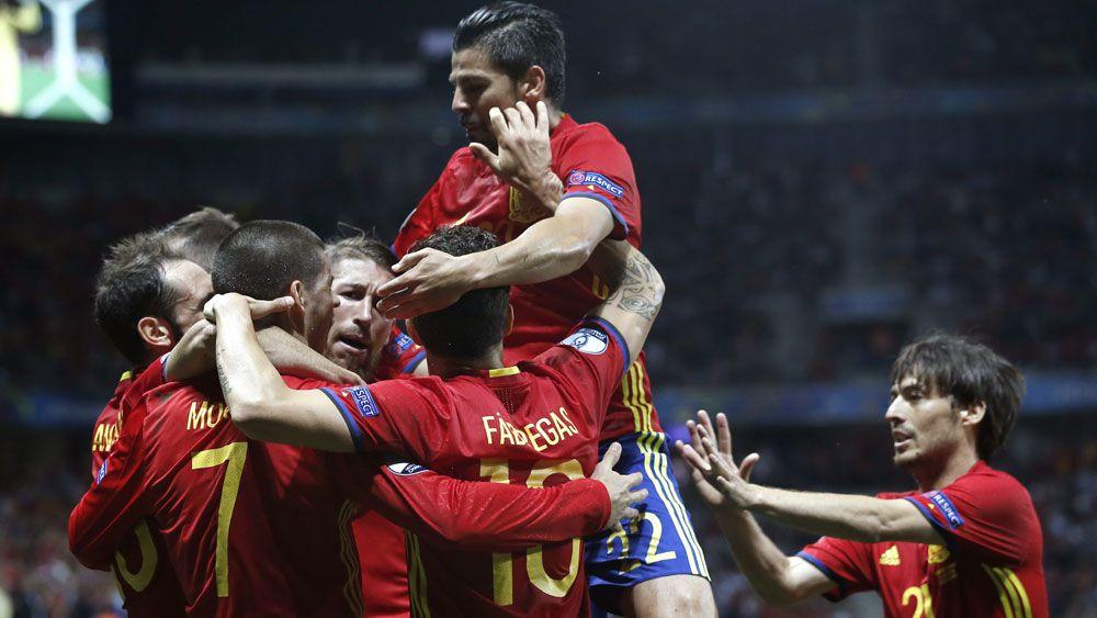 Morata double gives Spain win over Turkey