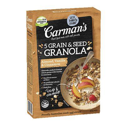 Carman's Almond, Vanilla & Cinnamon 5 Grain & Seed Granola