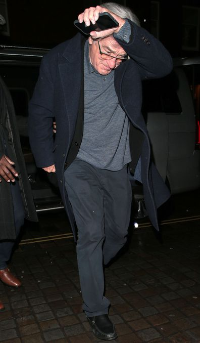 Robert de Niro at Princess Beatrice and Edoardo Mapelli Mozzi engagement party at Chiltern Firehouse London