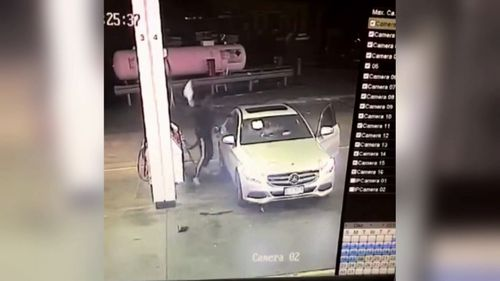 A driver was attacked a petrol station in Brisbane on Tuesday night.