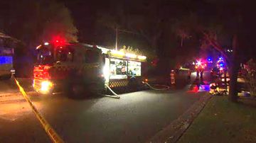 Elderly man dies after re-entering burning Sydney home