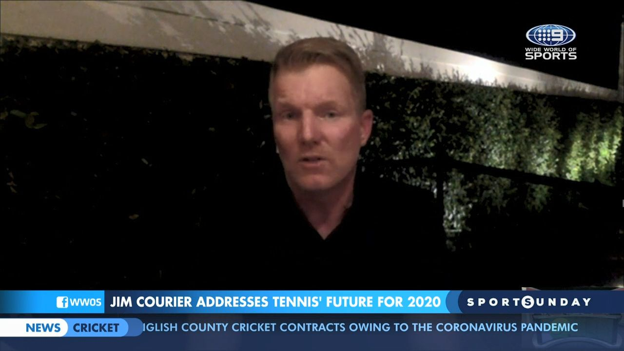 Jim Courier predicts tennis prize money will be reduced post pandemic