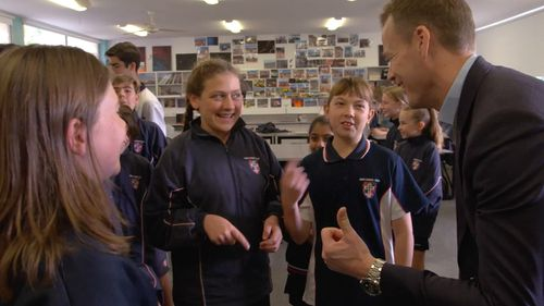 This Sunday on 60 Minutes, reporter Tom Steinfort investigates the growing number of complaints against Australia's education system. Picture: 60 Minutes
