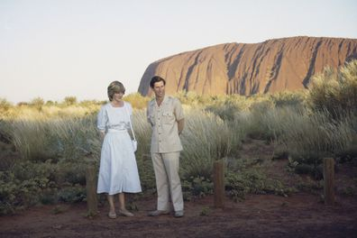 Charles and Diana at Ayers Rock/Uluru Australia in 1983.