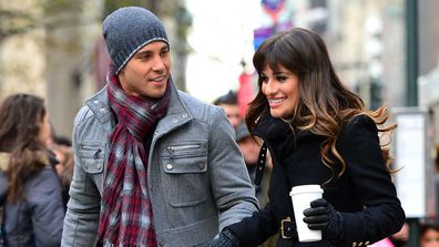 Dean Geyer and Lea Michele on Glee.