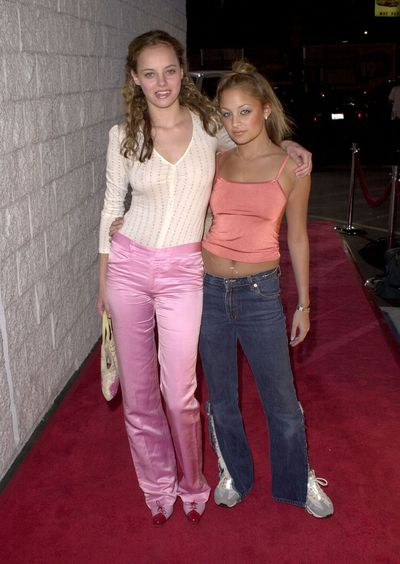Bijou Phillips and Nicole Richie at Jay-Z's record release party, November, 2000
