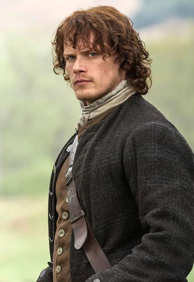Outlander, Jamie Fraser played by actor Sam Heughan