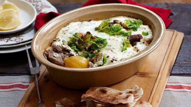 Baked Greek lamb stew