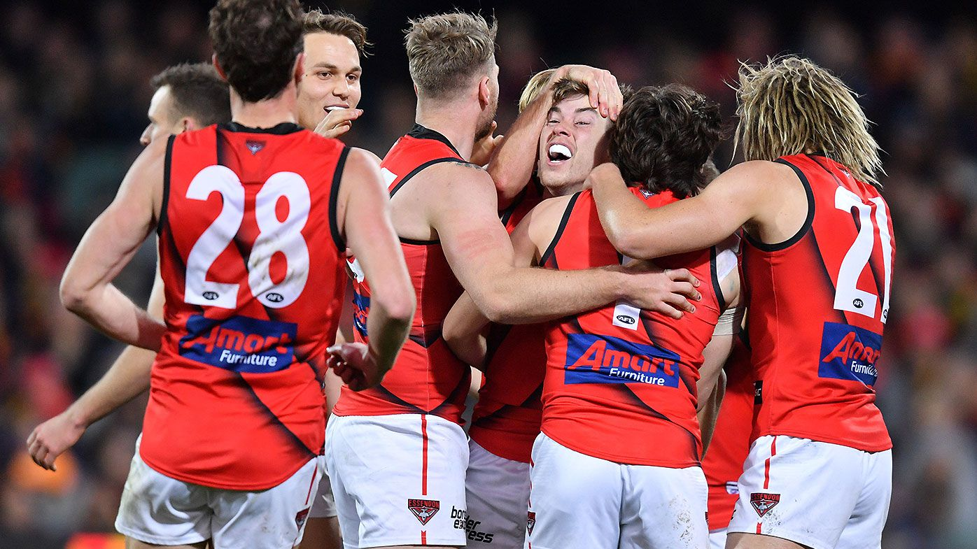 Essendon captain Dyson Heppell praises 'selfless' teammates after stunning comeback win over Adelaide
