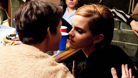 Emma Watson can't watch her own kissing scenes - but is totally up for 'raunchy' Fifty Shades role