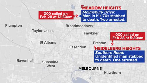 A timeline of this morning's deadly incidents in Melbourne's north. (9NEWS)