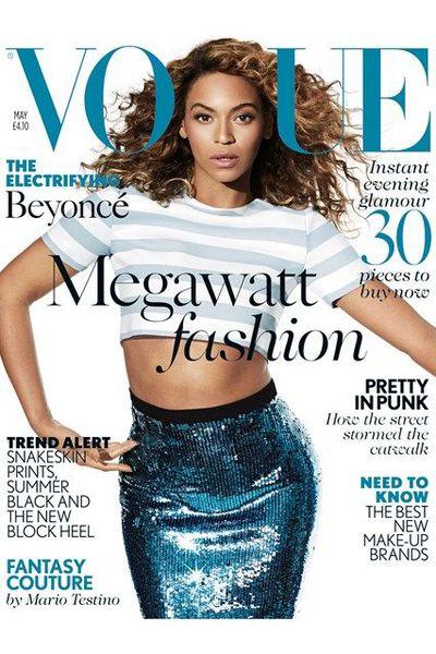 Beyoncé on the cover of <em>British Vogue</em>&nbsp;May 2013