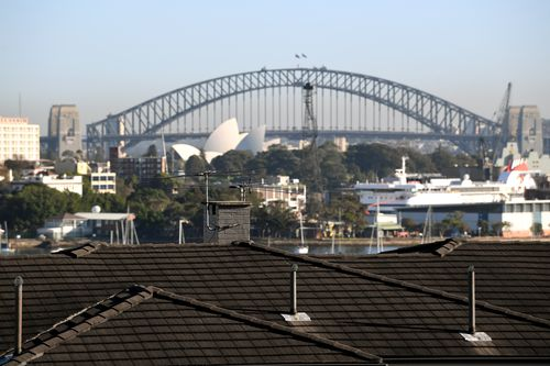 Sydney's house prices have slid by six percent.