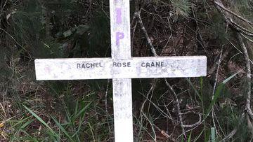 Rachel Rose Crane roadside memorial at Six Mile Creek