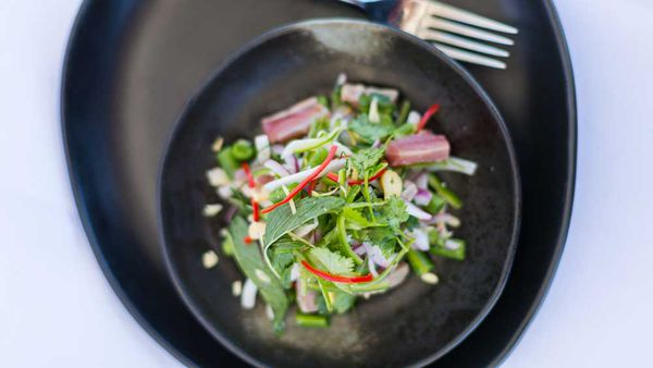 Andy Allen's seared yellowfin tuna salad
