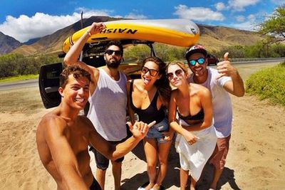 @shaym: The crew today...! Thanks @kai_lenny for the sick photo #bestday