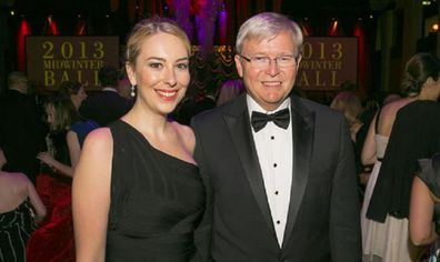Jessica and Kevin Rudd.